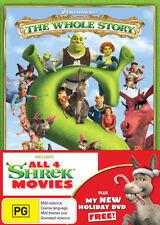 Shrek: The Whole Story (Shrek 1 2 3 4) Forever After / Donkey's Christmas ++ DVD