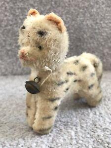 "Antique Vintage Hermann Or Similar Miniature Mohair Tabby Cat Soft Toy Teddy 4"""