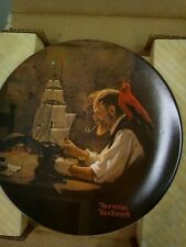 """00004000 """"The Ship Builder"""" Norman Rockwell Heritage Collection Plate"""