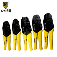 LTMS Ratchet Crimping Tool Crimper Pliers for Electrical Crimps Spade Terminals