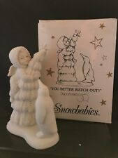 Department 56 Snowbabies ''YOU BETTER WATCH OUT'' Bisque Porcelain Figurine