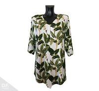 NEW JERSEY Damen Top Tunika Sommer T-Shirt Plants Urlaub Viskose *Made in EU 809