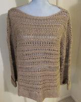 Women's Medium Ralph Lauren Silk & Linen Blend Knit Sweater - NWT