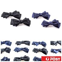 4pc/ Satin Bow Ponytail Hair Hairpin Clasp Pin Clip Barrette School Kids Hairtie