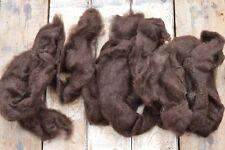 100g Natural Sheep Wool Fleece Felting Weaving Jacob Dark Chocolate Brown