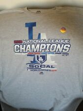 Los Angeles Dodgers Majestic 2018 National League Champions Locker Room Shirt M