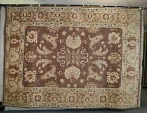 """8'10"""" x 12'2"""" ft. Oushak Hand Knotted Oriental Wool Rug"""