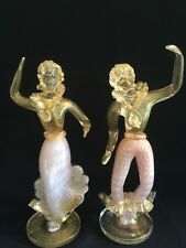 VINTAGE  MURANO FRATELLI TOSO VERY TALL FANCY DANCERS