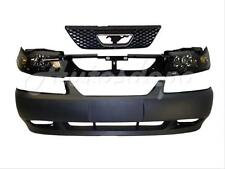 For 1999-2004 MUSTANG GT FRONT BUMPER PRIMED HEADER PANEL GRILLE HEADLIGHT 5PCS