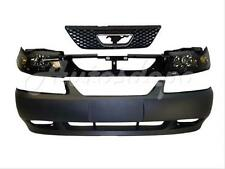1999-2004 MUSTANG GT FRONT BUMPER PRIMED HEADER PANEL GRILLE HEADLIGHT 5PCS