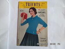 LES TRICOTS DE FEMMES D'AUJOURD'HUI N°102 1958 MODELES FEMME ENFANT HOMME    J46