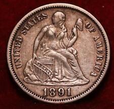 1891 Philadelphia Mint Silver Seated Liberty Dime