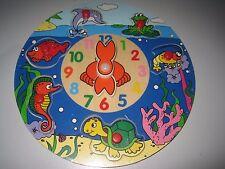 Houten ronde klokpuzzel - zee - Puzzle en bois ronde - La mer - Horloge