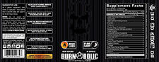 BURNABOLIC PM  BEST NIGHT-TIME FAT BURNER on market  VERY STRONG by CHAOTIC LABZ