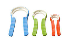 Jar, Bottle & Tap Turners - Set of 3, 6 Grip Options, Lightweight, Easy-Grip