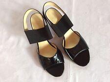 LLOYD Pumps Sandaletten Damenschuhe Gr.6,5 (ca.39-39,5) Schwarz Lackleder WieNeu