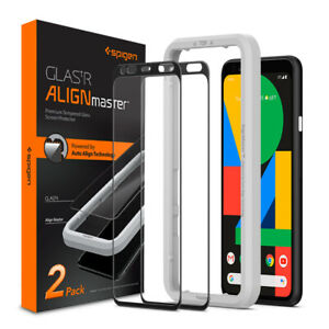 Google Pixel 4 4 XL Case Screen Protector | Spigen®[Glas.tR AlignMaster]