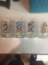 Disney McDonalds 2000 Collector Glasses Set of 4 Mickey Mouse Walt Disney
