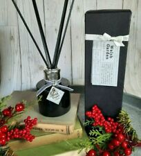Handmade in the UK Luxury Reed diffuser, Black Glass & Reeds English Rose Scent