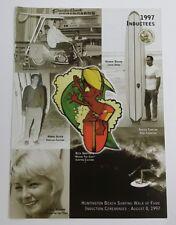 1998 Surfing Walk of Fame Program Rick Griffin Hobie Velzy Benson Gordie