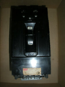 Federal Pacific Electric NF631050 circuit breaker 50A 600vac 3 pole