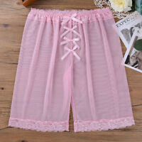Men's Sexy Soft Mesh Lace Bowknot Underwear Boxer Shorts Underpants Trunks Pants