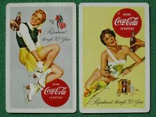 """Coca-Cola """"Refreshment Through 70 Years"""" 1886 - 1956 Anniversary Old Swap Cards"""