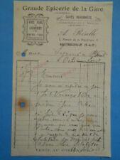 Lettre ancienne : A. Rérolle - Grande Epicerie de la Gare - Sartrouville - 1922