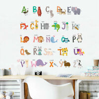 26 Animal Alphabets Kids Wall Art Stickers Nursery Decor Removable Vinyl Decal