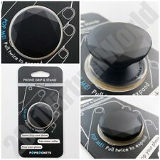 PopSockets Single Phone Grip PopSocket Universal Phone Holder BLACK DIAMOND