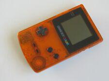 Nintendo Game Boy Color Launch Edition Clear Orange Daiei Hawks Handheld System