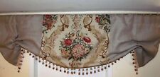 Custom Made French Country J. H. Thorp Vintage Linen And Burlap Valance