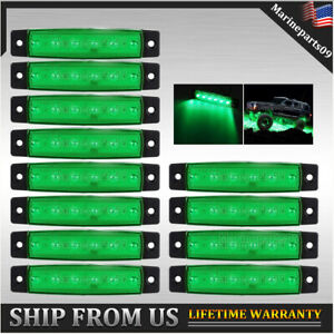 Underglow Green LED Rock Lights Neon 12 Pods LED Light Off Road Truck UTV Boat
