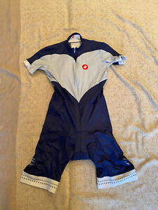 CASTELLI Cycling Short Sleeve Skinsuit BRAND NEW ORIGINAL SIZE M Unisex