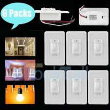 6 PACK In-Wall Occupancy Motion Sensor Light Switch PIR Detector White, USA SHIP