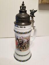 Antique German Military Regimental Beer Stein 1903-05 Stuttgart