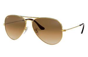 Ray Ban RB3025 Aviator Sunglasses Brown- 58mm Unisex- 58/14- Brand New