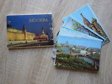 POCHETTE 18 x CPM CARTES POSTALES POSTCARDS 1985 MOSCOU MOSCOW URSS CCCP