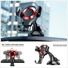 360° Rotatable Gravity Car Mobile Phone GPS Mount Holder Cradle Stand Black+Red