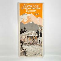 1932 Union Pacific Railroad Vintage Travel Brochure 1861 - Today Map Photos