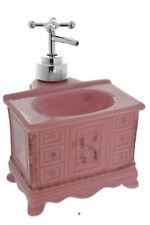Vintage-Style Pink Vanity Shaped Soap Lotion Dispenser w Chrome Faucet Pump
