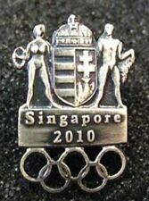 Singapore 2010 rare HUNGARY YOG Olympic NOC team pin