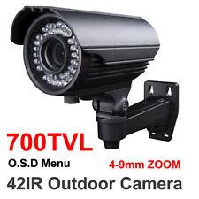 700TVL SONY CCD 4-9mm CS lens ZOOM CAMERA 42IR OUTDOOR GOOD NIGHT VISION Bullet