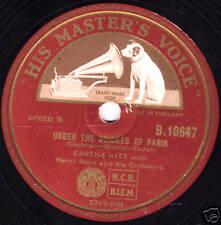 1955 UK#7 EARTHA KITT 78  UNDER THE BRIDGES OF PARIS/ LOVIN' SPREE HMV B10647 E+