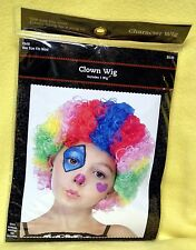 Child Boy or Girl - RAINBOW COLOR Afro Clown Wig in SZ: One Size Fits Most NEW