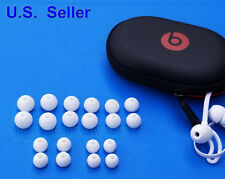 20 pcs for Beats X BeatsX by Dr Dre WHITE Round EarGels Eartips of 5 size + Case