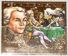 GUINEA 1989 1268 A Bicent. French Revolution de Robespierre GOLD Foil MNH