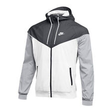 Nike Sportswear Windrunner Jacket Size L Full Zip White Black Gray 898730-012