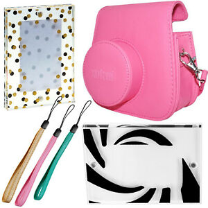 Fujifilm - Groovy Camera Case- Pink, Camera Wrist Strap, Large Magnetic Frame