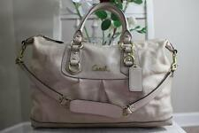 COACH ASHLEY BONE LEATHER SATCHEL PURSE #F15447 (pu220